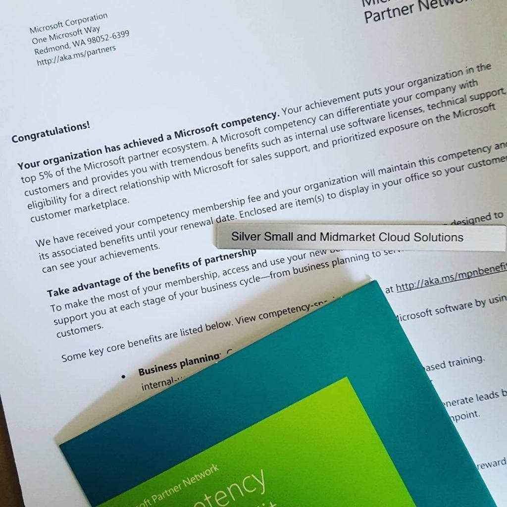 Microsoft Silver Level Partner certification